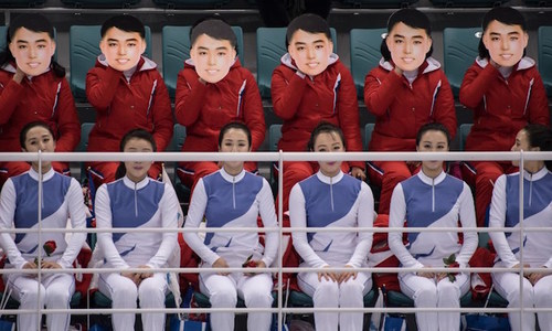 Mind the gap: North's 'army of beauties' reveal cultural divide at Winter Olympics