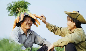 Vietnamese farmers' Valentine photos prove carrots are no less romantic than roses