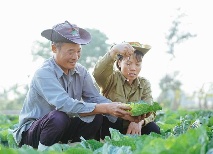 The photos were taken on Tuesday, just one day before Valentines Day and three days before Lunar New Year, at the familys vegetable farm where they grow carrots, cabbages and nuts.