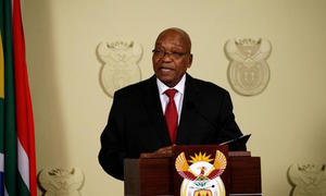 S Africa's Zuma resigns, forced out by own party