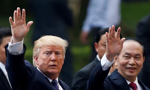 Trump, Vietnam's president discuss Asia security