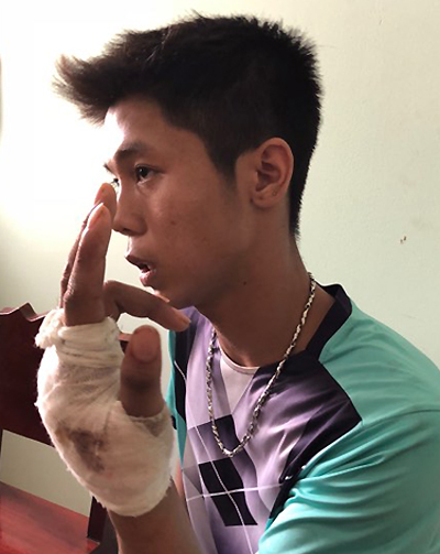 Nguyen Huu Tinh captured in Long An. Photo courtesy of the police.