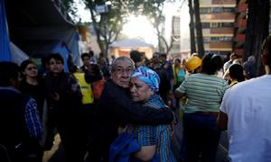 Big Mexico quake cuts power and damages homes, two dead in crash