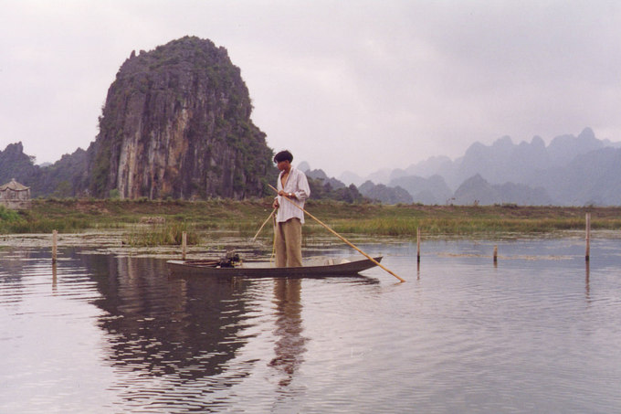 Ha Long Bay in the simpler time, when hotels and big cruises had not yet arrived.