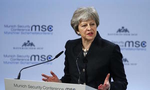 Britain's May wins backing for EU security pact, timing unclear