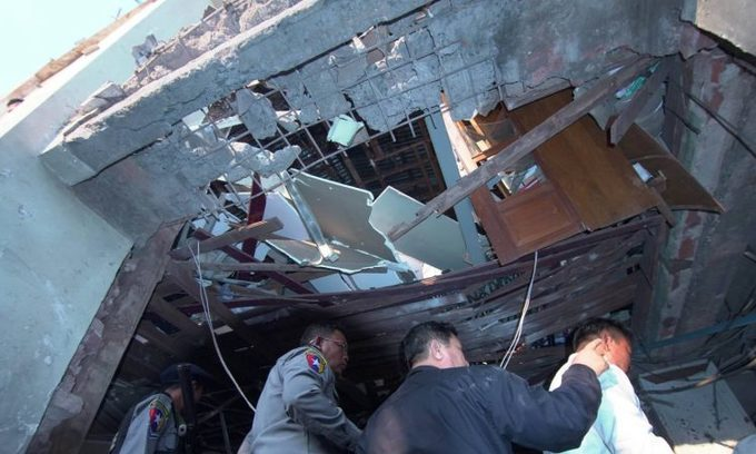 Two dead, 22 hurt from bomb blast in northeast Myanmar city Lashio