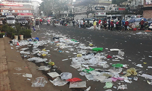 Da Lat flooded with garbage as Lunar New Year holiday comes to an end
