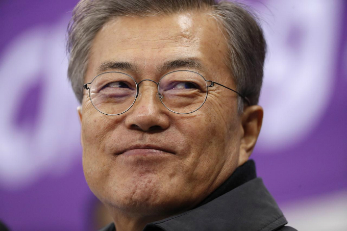 South Koreas President Moon Jae-in. Photo taken on February 17, 2018 by Reuters/John Sibley.
