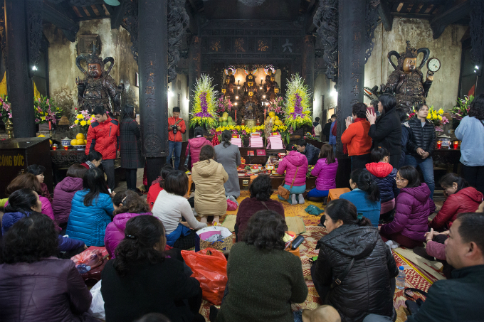Inside the pagoda where the ritual takes place.