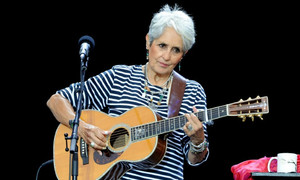 Veteran singer Joan Baez muses on Trump ... and Hitler