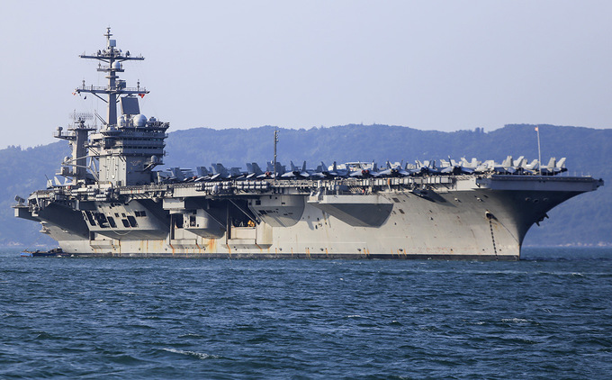 United States  aircraft carrier Carl Vinson makes historic port call in Vietnam