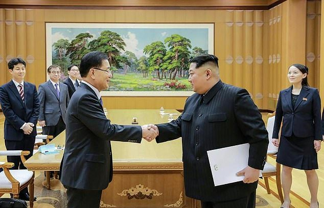 Kim Jong Un and Seoul envoys discuss possible inter-Korean summit