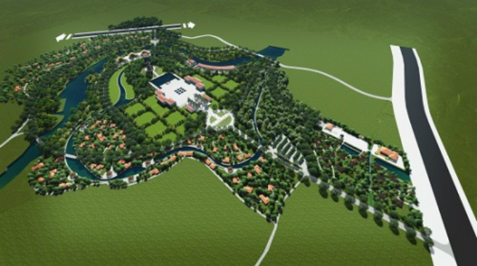 An artist impression shows the peace park to be built near the My Lai massacre site in Quang Ngai Province.