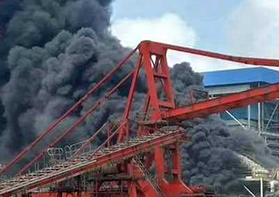 Inferno causes millions of dollars damage at Vietnamese power plant