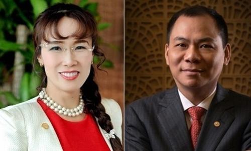 Nguyen Thi Phuong Thao (L) and Pham Nhat Vuong.