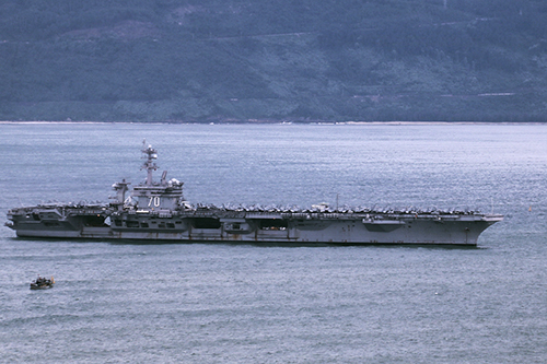 US aircraft carrier leaves Vietnam, wrapping up historic visit