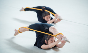Young girls sweat it out to shape their bodies and future of artistic gymnastics in Vietnam