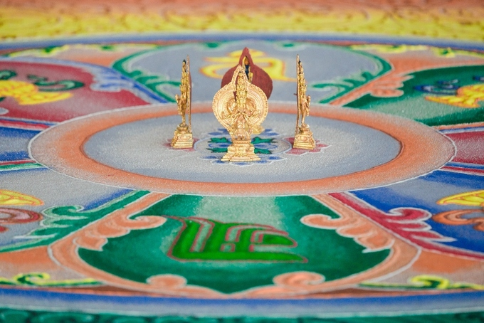 Guanyin is an East Asian bodhisattva associated with compassion, commonly known as the Goddess of Mercy in English. In Vajrayana Buddhisms beliefs, Bodhisattva Guanyins mandala symbolizes the unification of compassion and wisdom.