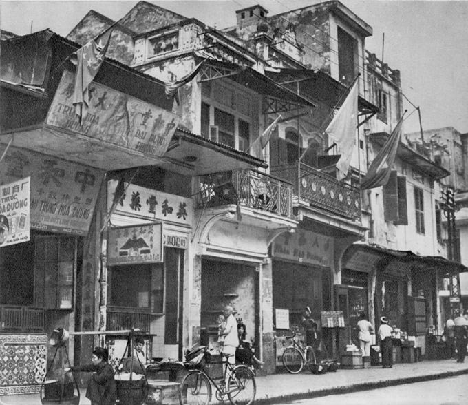 Hang Buom Street in Hoan Kiem District. It used to be home to the Chinese community in Hanoi since early 19th century.