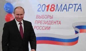 Putin wins another six years at Russia's helm in landslide victory