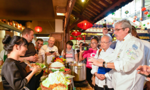 International chefs get a taste of Hoi An with cyclo ride to giant cook-off