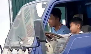 Vietnamese man fined for letting 10-year-old nephew drive truck