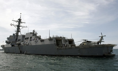 US warship sails near disputed islands in Southeast Asia, officials say