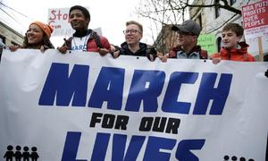 'Vote them out!': Mid-term battle at US anti-gun marches as thousands register to vote