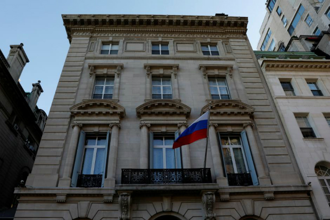 A general view of the exterior of the Consulate-General of the Russian Federation in Manhattan in New York City, March 26, 2018. Photo by Reuters/Mike Segar