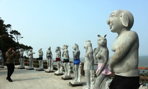 Naked zodiac statues put on swimwear after 'offending' netizens in Vietnam