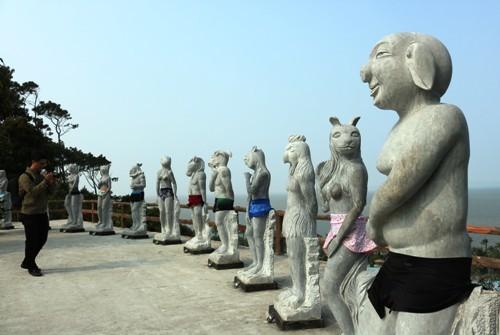 Naked zodiac statues put on swimwear after 'offending' netizens in Vietnam