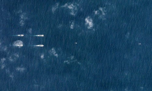 Satellite images reveal show of force by Chinese navy in East Sea