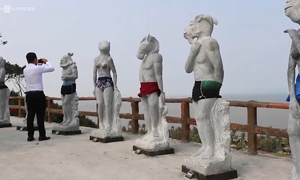 Naked stone sculptures resort to swimwear after offending netizens in Vietnam