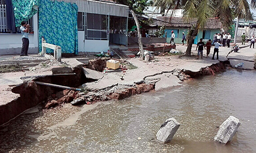 Erosion attacks yet another part of Vietnam's Mekong delta