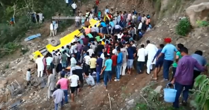 At least 27 killed as school bus plunges off Indian mountain road