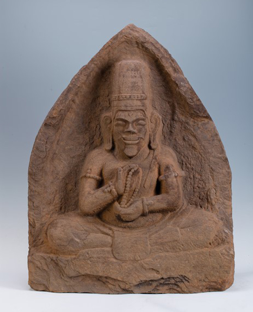 A relievo depicts a priest of Champa culture (192-1471). The exhibition also boasts a number of antiques of Champa daily life, ranging from religion to imperial court. File photos acquired by VnExpress