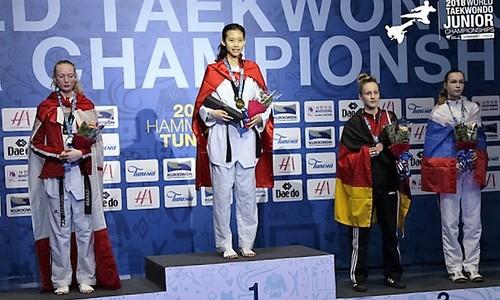 Vietnamese taekwondo artist claims gold at world junior championships