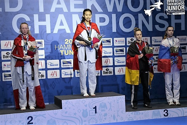 Vietnamese taekwondo artist claims gold at world junior championships
