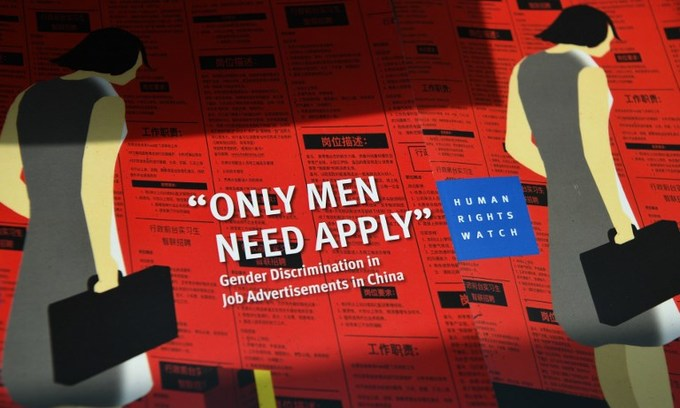 China's 'men only' job culture slammed in new report