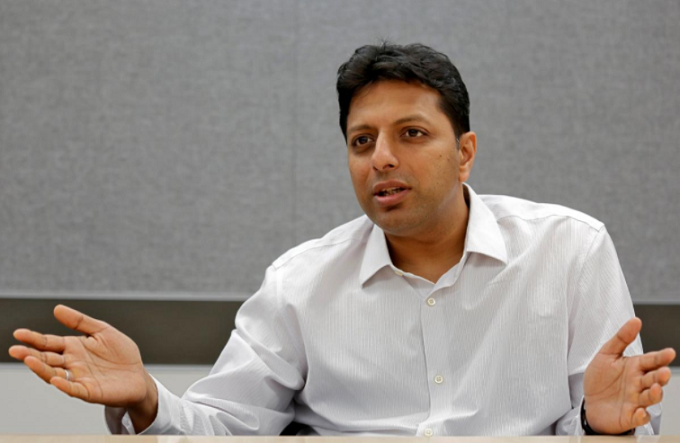 Amit Agarwal, Amazons India Country Head and Global Senior Vice President, speaks during an interview with Reuters inside his office in Bengaluru, India, April 20, 2018. Picture taken April 20, 2018. Photo by Reuters/Abhishek N. Chinnappa
