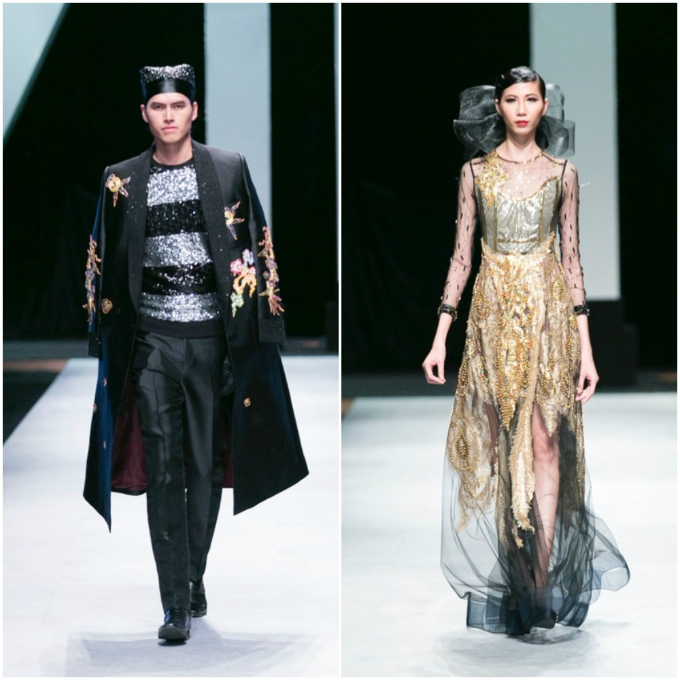 Designer David Minh Duc combines the best of Eastern and Western costumes in his creations.