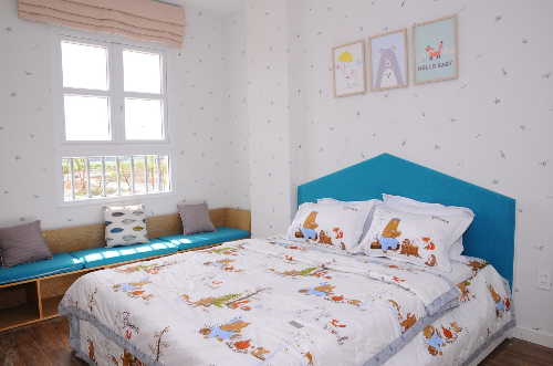 Phòng ngủ mẫu nhà vườn vừa khánh thành của Thăng Long Home - Hiệp Phước.