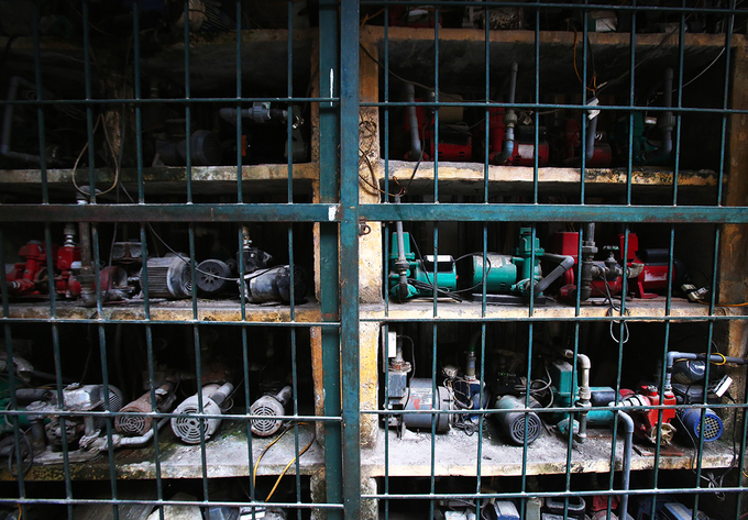 Loud noises can be heard from 50 electric water pumps in C2 collective, Le Trong Hieu Str., whether its night or day.