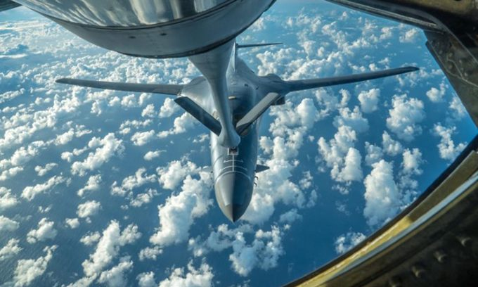 US air force says trains in vicinity of South China Sea
