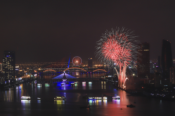 The opening shows of the Da Nang International Fireworks Festival 2018 coincides with Vietnams Reunification Day April 30, when the country marks the end of the Vietnam War.