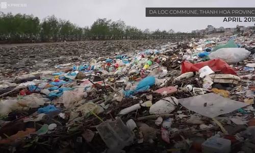 Marine trash turns Vietnamese forest into garbage field