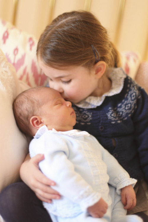Britains Princess Charlotte and her brother Prince Louis are seen in this photograph released by Kensington Palace, and taken by Britains Catherine, Duchess of Cambridge, on Princess Charlottes third birthday, at Kensington Palace in London, Britain May 2, 2018