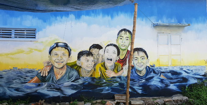 The idea of Tam Hai Art Village was created by architecture undergraduate students at University of Science and Technology  The University of Da Nang. Students painted on residences houses outer walls, to old and plain fences on the island, which add more liveliness to the whole village. The project was completed in 3 weeks.