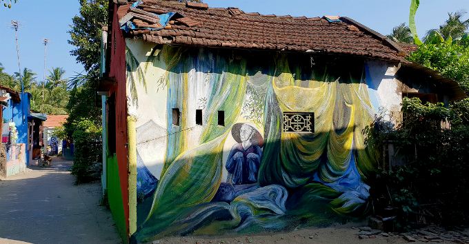The village has 21 artworks with various topics including daily activities, festivals, and many more.