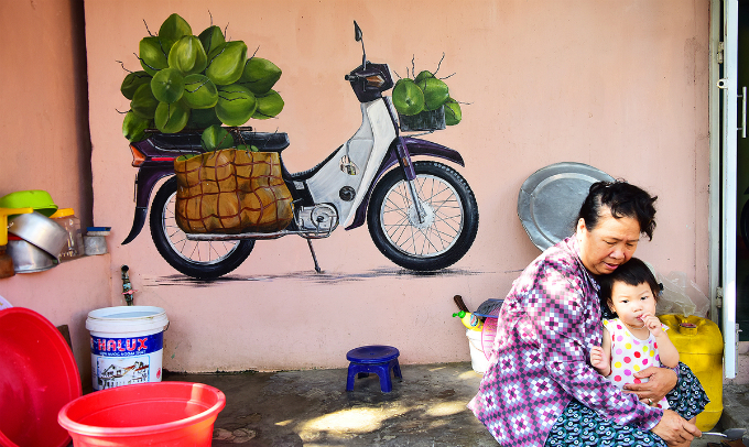 These artworks also intertwine in locals daily lives.